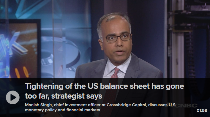 Tightening of the US balance sheet has gone too far, strategist says